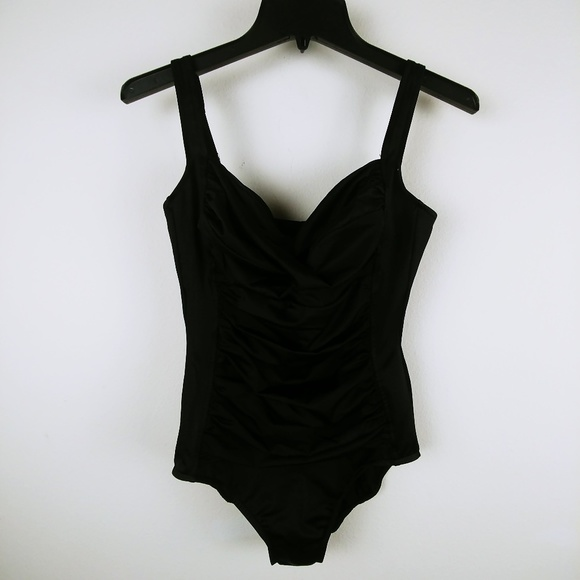 bd0a1274911e7 Croft   Barrow One-piece Swimsuit Ruched Front 10